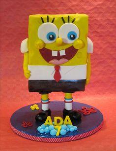 Tarta Bob Esponja / Sponge Bob Cake, via Flickr.