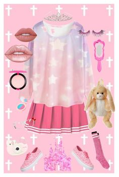 """Princess"" by sataninsocks on Polyvore featuring WithChic, Accessorize, Moschino, Lime Crime, MAC Cosmetics, MAKE UP FOR EVER, Charlotte, ZeroUV, Fujifilm and Disney"