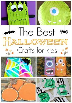 The Best Halloween Crafts for Kids! So many great cute and easy ideas!