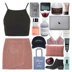 """""""PLEASE READ // starless sky"""" by starry-skies-in-the-city ❤ liked on Polyvore featuring Topshop, ESPRIT, Muuto, Madewell, Clinique, Aesop, Make, Davines, Byredo and LSA International"""