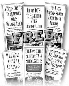 FREE Parent Brochures on Reading.  Really great printables to have handy for parents to pick up!