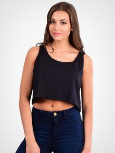 4f7a85aaf5 The loose crop tank from American Apparel features an oversized fit and  wide neck opening.