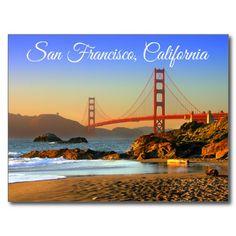Golden Gate Bridge San Francisco California Postcard   http://www.zazzle.com/golden_gate_bridge_san_francisco_ca_postcard-239246760317896586?rf=238669615131463341