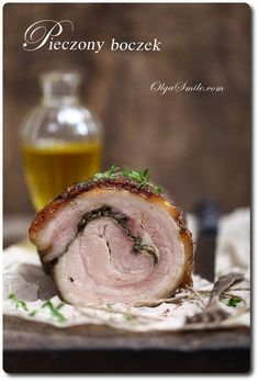 Roasted Bacon, Polish Recipes, Polish Food, Pork Belly, Steak, Food And Drink, Gluten Free, Smile, Christmas