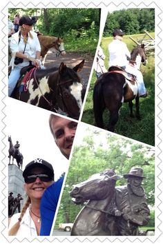 Cory and Cathy Pavlosky at Gettysburg 6 2014  Rode with Cornerstone Farms they were great !  ;-)