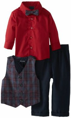 Andy /& Evan Baby Boys Classic Herringbone Blazer and Pant 2 Piece Suit Set-Infant