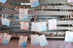 Pink and blue water color nautical escort cards - Claire and Caleb's Mount Hope Farm Wedding | The Newport Bride