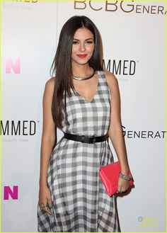 Victoria Justice is pretty in plaid for the 2015 Nylon Young Hollywood Party