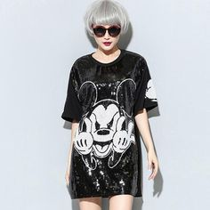 harajuku punk rock cartoon mouse sequined black mimi dress Nora101553  Material: Cotton,PolyesterStyle: CasualSilhouette: LoosePattern Type: Chara...   https://nemb.ly/p/V1vngAz=Z Happily published via Nembol