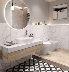 Marmorizado em banheiro! Que acharam dessa composição?! #inspiracaogringa ___________________________ ️ #dicasdedecoração #inspiraçãododia…