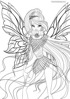 Winx Coloring Pages With Winx Club Sirenix Bloom Page