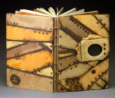 Homage to bontecou the covers of this handmade book were created in polymer clay. Geraldine Newfry