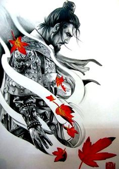 Samurai Tattoo Design - Sie Trendy - Tattoos -You can find Samurai and more on our website. Filipino Tattoos, Asian Tattoos, Trendy Tattoos, Japan Tattoo, Japanese Tattoo Art, Japanese Art, Japanese Warrior Tattoo, Japanese Prints, Samurai Warrior Tattoo