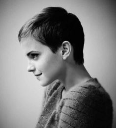 Current Fashion Icon Emma Watson's pixie cut be very clearly seen to be inspired by the 1960's icon Jean Seberg