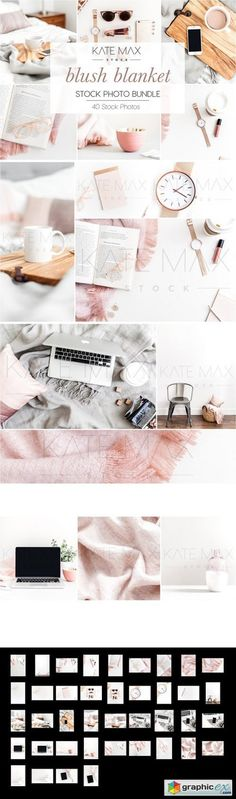 Blush Blanket Bundle  stock images
