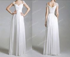 cap sleeves prom dress elegant prom dresses white by sofitdress, $139.00