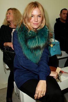 Sienna Miller Front Row at Matthew Williamson  [Photo by Press Association]