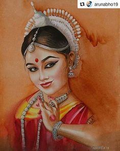 29 Ideas Dancing Drawings Watercolors For 2019 Dance Paintings, Indian Art Paintings, Dancing Drawings, Art Drawings Sketches, Kerala Mural Painting, Tanjore Painting, Rajasthani Painting, Indian Folk Art, India Art