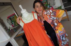 How to sew a simple dress - make in silk for evening dress