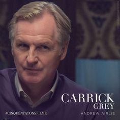 Andrew Airlie é Carrick Grey, pai de Christian. #CinquentaTonsFilme