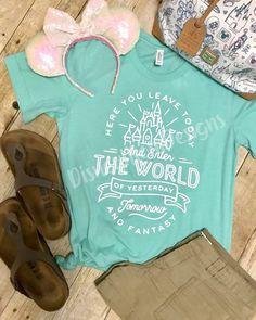 Magic Kingdom inspired T-shirt / Disney inspired shirt - Inspirational T Shirts - Ideas of Inspirational T Shirts - Magic Kingom inspired T-shirt / Disney inspired shirt Disney Day, Disney Nerd, Disney World Trip, Disney Vacations, Disney Trips, Disney Magic, Disney Parks, Walt Disney, Disney Honeymoon