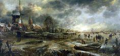 Frozen River Scene - Aert van der Neer.3ba8c3bb.jpg (549×260)