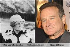 Laura Rockefeller Totally Looks Like Robin Williams (that's just crazy! Cartoon Theories, Paranormal, Celebrity Look Alike, Robin Williams, Ringo Starr, Mirror Image, Weird World, Fun Facts, Random Facts