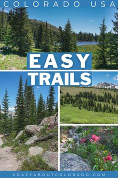 Here is a sneak peek into our favorite easy trails that are guaranteed to get you loving hiking. All offer up Colorado outdoors in amazing ways and we've loved all of them. If new to hiking or to Colorado or an avid hiker there is one for you... or 2 or 3 or... all of them! Family Adventure, Adventure Travel, Usa Travel, Canada Travel, Travel Tips, Amazing Destinations, Travel Destinations, Adventure Activities, Weekend Trips