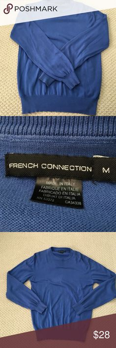 French Connection Sweater -- Royal Blue This royal blue sweater from French Connection is in fantastic shape and very comfortable! Made in Italy. Size Medium French Connection Sweaters Crewneck