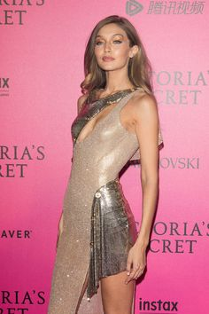 PARIS, FRANCE - NOVEMBER 30:  Gigi Hadid attends '2016 Victoria's Secret Fashion Show' after show photocall at Le Grand Palais on November 30, 2016 in Paris, France.  (Photo by Marc Piasecki/WireImage) via @AOL_Lifestyle Read more: http://www.aol.com/article/lifestyle/2016/12/16/2016-in-review-gigi-hadids-style-wowed-us/21628888/?a_dgi=aolshare_pinterest#fullscreen