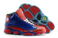 "http://www.jordan2u.com/2016-air-jordans-13-spiderman-bluered-snakeskin-for-sale.html 2016 AIR JORDANS 13 ""SPIDERMAN"" BLUE-RED SNAKESKIN FOR SALE Only $92.00 , Free Shipping!"