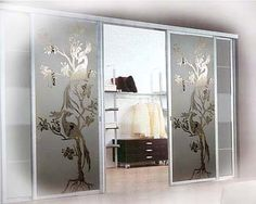 Напыление на дверях шкафа купе. Glass Design, Door Design, Wall Design, House Design, Kitchen Glass Doors, Pooja Room Design, Wardrobe Design Bedroom, Partition Design, Wardrobe Doors