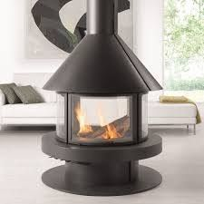 With panoramic views of the fire from all sides, the central Rocal Gala is a stu…, – Freestanding fireplace wood burning Stove Fireplace, Fireplace Design, Wood Burning Fires, Gas Fires, Freestanding Fireplace, Suspended Fireplace, Pellet Stove, Gas Stove, Living Area