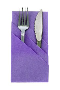 Lilac Pre Folded Tuxedo Fold Napkin - 24 Ct. Pkg - FancyNap