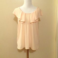 Medium loos fitting champagne blouse with cutout Never wore Tops Blouses