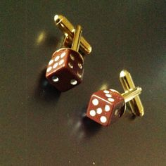 CRAP SHOOT Gold Cuff Link Set by BourgeoisCo on Etsy