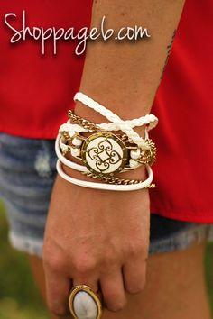 Sadie Wrap Bracelet - White | Page 6 Boutique