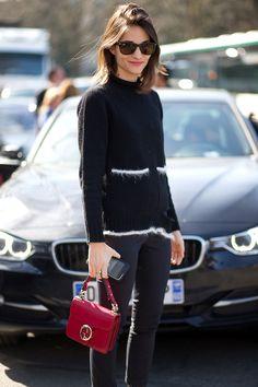 Maria Duenas Jacobs with Gucci bag - HarpersBAZAAR.com