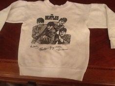 Vintage 1963 Original Beatles Promotional Sweatshirt NEMS Enterprise-youth M