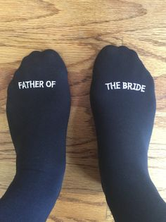Father of the Bride Socks Best Wedding Gift Idea by GroomSocks
