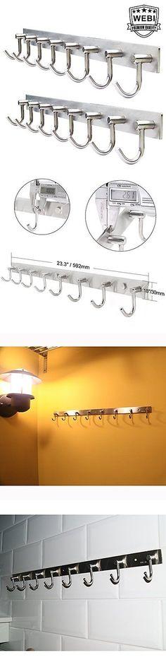 Hooks and Hangers 36024: 2 Packs Webi Webi Heavy Duty Brushed Stainless Steel 304 Coat Hook Rail Towel... -> BUY IT NOW ONLY: $63.74 on eBay!