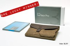WIN a Surface Pro 3 & WaterField Outback Solo GIVEAWAY! – WaterField Designs | Multiple ways to enter. Click through and follow!