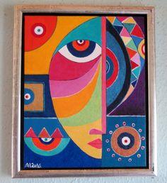 African Paintings, African Art, Arabic Calligraphy Art, Math Art, Circle Art, Modern Art Paintings, Turkish Art, Art N Craft, Paper Artist