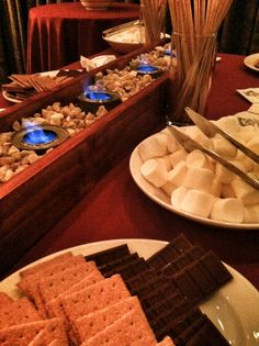 Fun & Interactive S'mores Station. Toast your Own Marshmallows.
