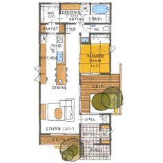 清家修吾さんはInstagramを利用しています:「. 【ボツプラン529】 敷地に対しての建物の配置や形状が上手く、間取りの組み方も良いです。 一切無駄の無い合理的な設計をすることを目的とすれば、100点だと思います(^ ^)…」 Japanese Kitchen, Japanese Architecture, Small Studio, My Dream Home, Home Projects, House Plans, Porch, Kids Room, Deck