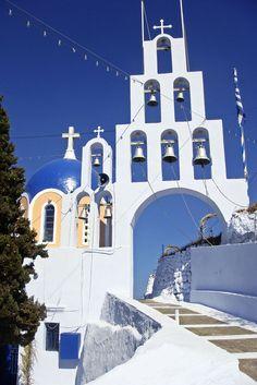 Church in Karterados, Santorini