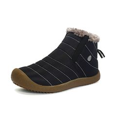 Snow Boots For Men- Men's Fur Lined Winter Outdoor Slip On Ankle Snow Booties Low Top Shoes - Black - Shoes, Outdoor, Snow Boots Ankle Snow Boots, Mens Snow Boots, Mens Winter Boots, Fur Boots, Winter Shoes, Black Boots, Rain Boots, Top Shoes, Men's Shoes
