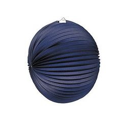 Lampion rond bleu marine - 25 cm