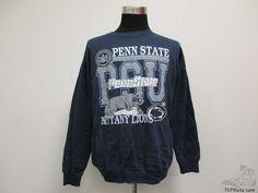 Vtg 90s Tultex Penn State Nittany Lions Crewneck Sweatshirt sz XL Extra Large #Tultex #PennStateLions