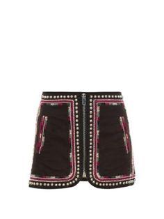 Sybil embellished zip-front mini skirt | Isabel Marant | MATCHESFASHION.COM US